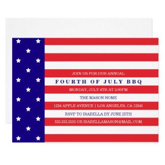 Patriotisches 4. von Party Einladung Julis  