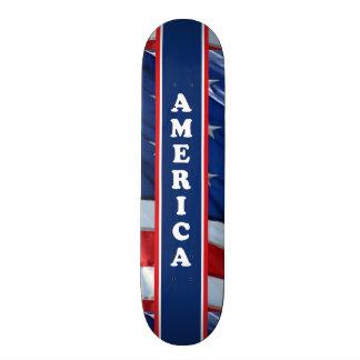 Patriotisches Amercia rotes weißes u. blau Bedrucktes Skateboard