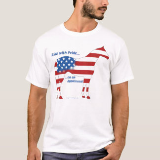Patriotisches Appaloosa-Pferd T-Shirt