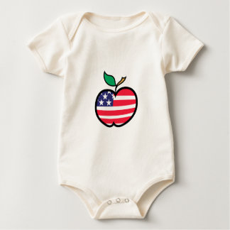 Patriotisches Apple Baby Strampler