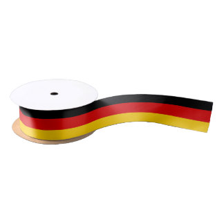 Patriotisches Band mit Flagge von Deutschland Satinband