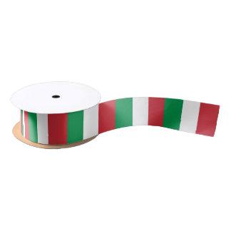 Patriotisches Band mit Flagge von Italien Satinband