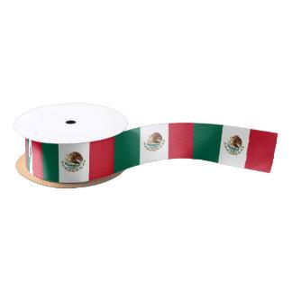 Patriotisches Band mit Flagge von Mexiko Satinband