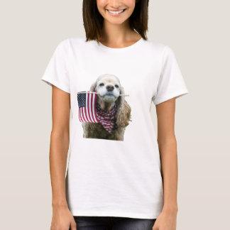 Patriotisches Cocker spaniel T-Shirt