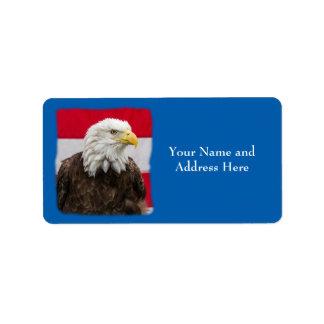 Patriotisches Eagle Adressaufkleber