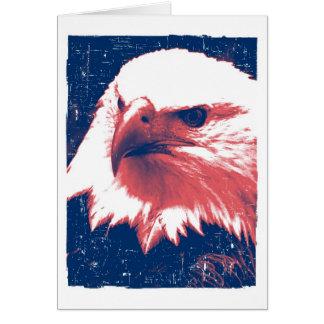 Patriotisches Eagle - Schmutz-Kunst Karte