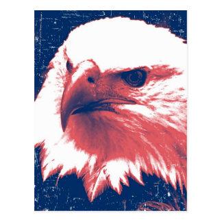 Patriotisches Eagle - Schmutz-Kunst Postkarten