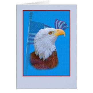 Patriotisches Eagle und USA-Flagge Karte