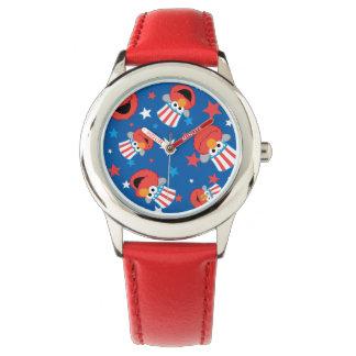 Patriotisches Elmo Muster Armbanduhr