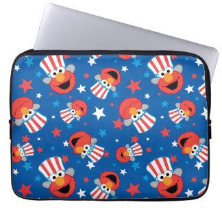 Patriotisches Elmo Muster Laptop Sleeve