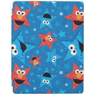 Patriotisches Elmo und Plätzchen-Monster-Muster iPad Hülle