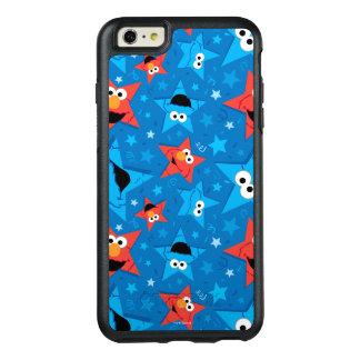 Patriotisches Elmo und Plätzchen-Monster-Muster OtterBox iPhone 6/6s Plus Hülle