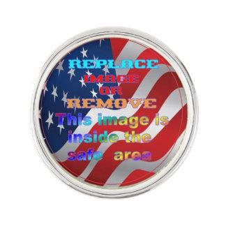 Patriotisches Flagge Revers-Button Anstecknadel
