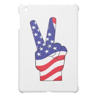 Patriotisches Friedenszeichen USA iPad Mini Hülle