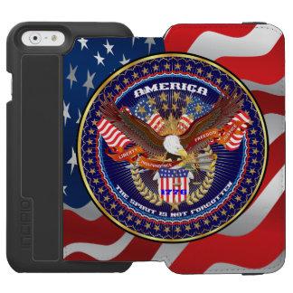 Patriotisches Geldbörsen-Kasten-Watson iPhone 6 Incipio Watson™ iPhone 6 Geldbörsen Hülle