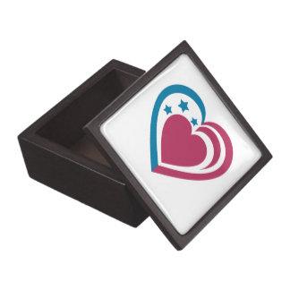 Patriotisches Herz Kiste