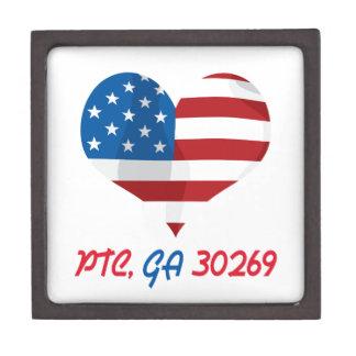 Patriotisches Herz mit PTC, GA Schmuckkiste
