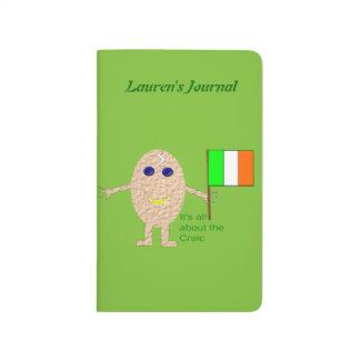 Patriotisches irisches Ei-kundenspezifische Taschennotizbuch