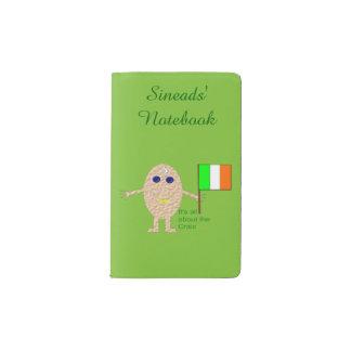 Patriotisches irisches Ei personalisiert Moleskine Taschennotizbuch