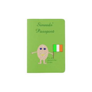Patriotisches irisches Ei personalisiert Passhülle