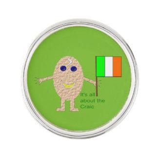 Patriotisches irisches Ei-Revers-Button Anstecknadel