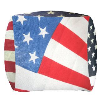 Patriotisches kundenspezifisches Polyester Kubus Sitzpuff