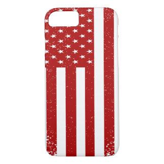 Patriotisches Kunst-rotes Weiß beunruhigte iPhone 8/7 Hülle