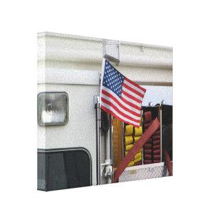 Patriotisches Löschfahrzeug Crosslays Leinwanddruck