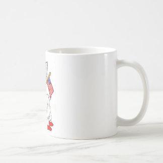 Patriotisches Mädchen 1800's Kaffeetasse