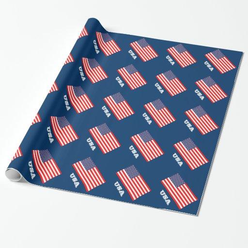 Patriotisches Packpapier mit Flagge von Amerika Geschenkpapier