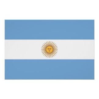 Patriotisches Plakat mit Flagge von Argentinien Poster