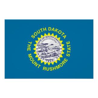 Patriotisches Plakat mit Flagge von South Dakota Poster