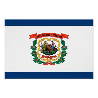 Patriotisches Plakat mit Flagge von West Virginia Poster