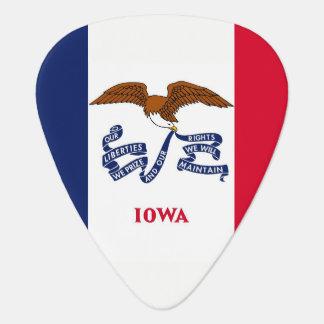 Patriotisches Plektrum mit Flagge von Iowa
