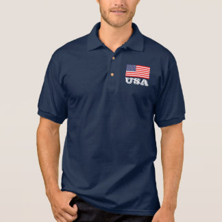 Patriotisches Polo-Shirt mit amerikanischer Flagge Polo Shirt