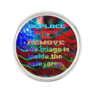 Patriotisches Revers-Button Anstecknadel