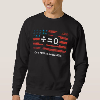 Patriotisches rotes weißes Blau geteilte Sweatshirt