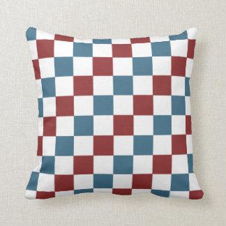 Patriotisches Schachbrett-Muster Kissen