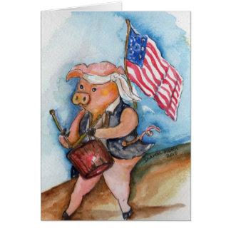 Patriotisches Schwein Karte