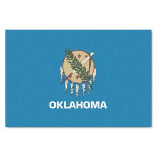 Patriotisches Seidenpapier mit Flagge Oklahoma,