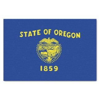 Patriotisches Seidenpapier mit Flagge Oregon, USA