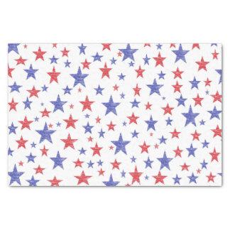 Patriotisches Stern-Seidenpapier Seidenpapier
