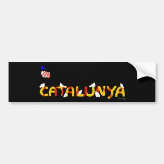 Patriotisches Symbol, Katalonien-Freiheit, Autoaufkleber