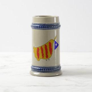 Patriotisches Symbol, Katalonien-Freiheitstaube Bierkrug