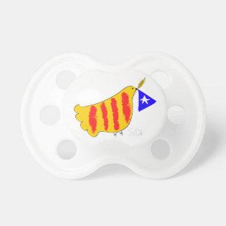 Patriotisches Symbol, Katalonien-Freiheitstaube. Schnuller