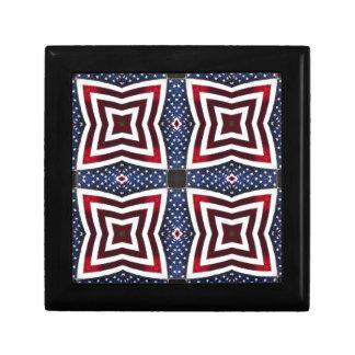 Patriotisches US Flagge-Kaleidoskop Erinnerungskiste
