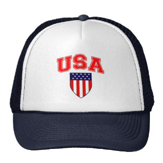 Patriotisches USA-Flagge-Schild Trucker Caps