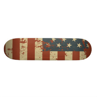 Patriotisches USA-Schmutz-Flaggen-Skateboard 18,7 Cm Mini Skateboard Deck
