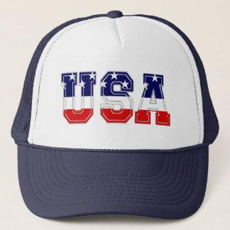 Patriotisches USA-US Flagge Truckerkappe