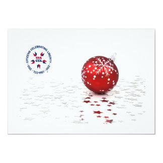 Patriotisches Weihnachten laden ein,/Karte - Karte
